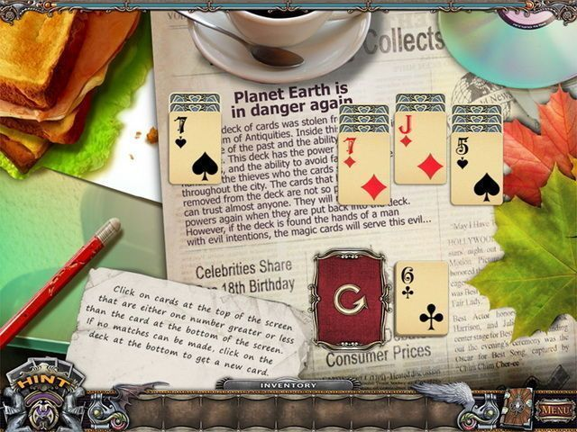 Solitaire Mystery: Stolen Power - Screenshot 1