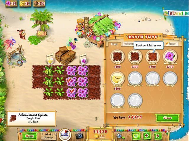 Ranch Rush 2 - Sara's Island Experiment - Screenshot 1