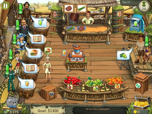 Katy and Bob: Safari Cafe. Collector's Edition - Screenshot 1