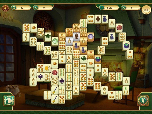 Download game Spooky Mahjong | Download free game Spooky Mahjong