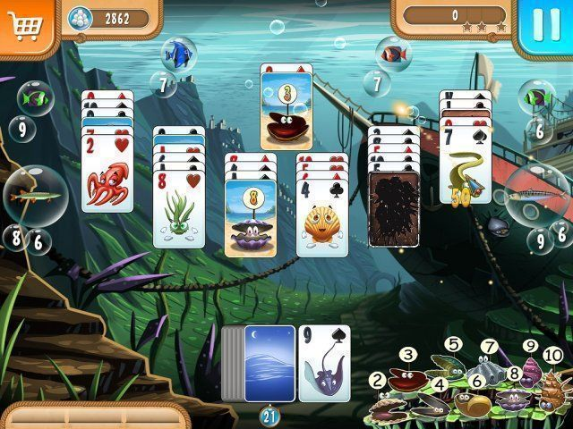 Atlantic Quest: Solitaire - Screenshot 1