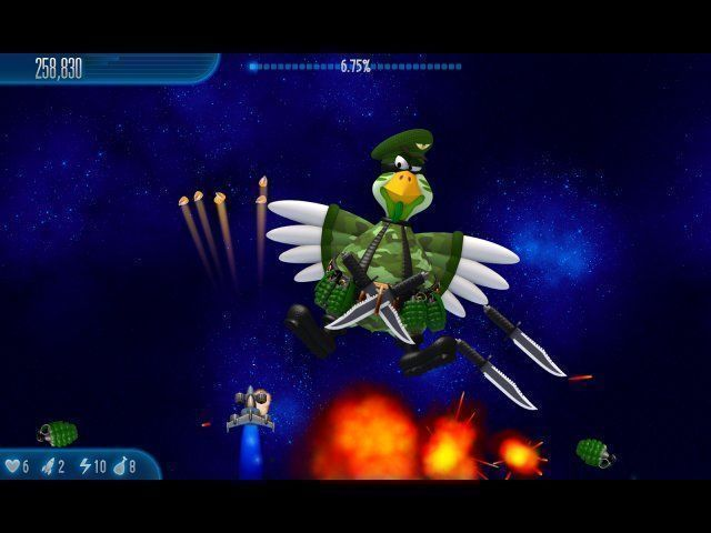 Chicken Invaders 5: Cluck of the Dark Side - Screenshot 1